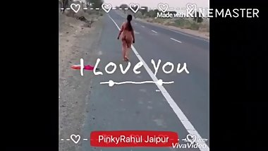 indian wife public road dare video