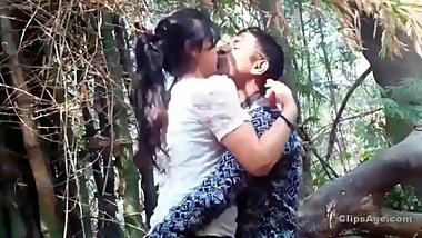 Girl meet his boyfriend in jungle and enjoy them