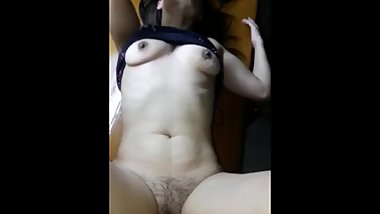 Shy girlfriend shared with friend. She cums on his dick!
