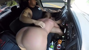 Fucked while driving