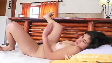 British Indian girl playing with her pussy