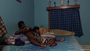 Indian Young Couple Romance with Fuck at Home