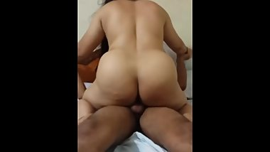 Fucking my Big ass DESI MILF in Cowgirl position