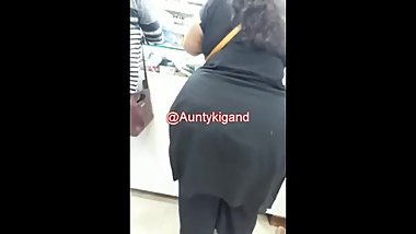 Indian Huge Ass in Black dress