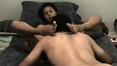 Indian wife's pussy eaten till orgasm