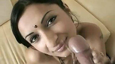 Horny Indian Sucking Cock In Lounge