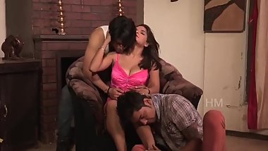 Shruthi bhabhi Sharing Two Young Guys