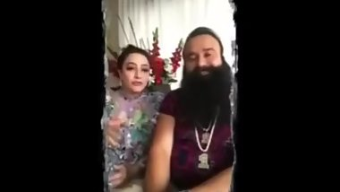 Baba Ram Rahim and honeypreet leaked sex tape