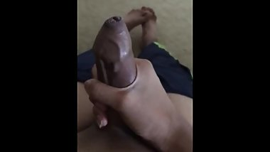 Horny Indian Teen Stroking his cock and Masturbating
