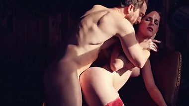 Sexy Spanish Redhead with a Fat Ass gets Fucked Hard