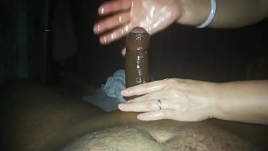 Chinese milking Indian desi cock massage with cum - Part 2