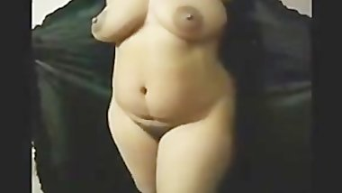 Hot South Indian Aunty in Open Black Nighty for her Partner