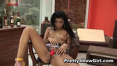 Super hot indian babe working on a big part3