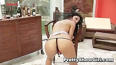 Super hot indian babe working on a big part1